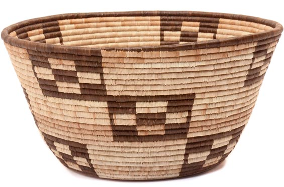 African Basket - Botswana - 14.5 Inches Across - #49469