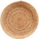 African Basket - All Natural Tuareg Winnowing Tray - 14.5 Inches Across - #68057