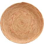African Basket - All Natural Tuareg Winnowing Tray - 14 Inches Across - #68058