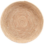 African Basket - All Natural Tuareg Winnowing Tray - 14.75 Inches Across - #72747