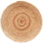 African Basket - All Natural Tuareg Winnowing Tray - 15 Inches Across - #72757