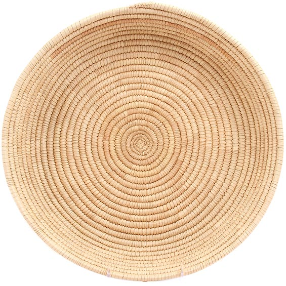African Basket - All Natural Tuareg Winnowing Tray - 14 Inches Across - #72763
