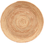 African Basket - All Natural Tuareg Winnowing Tray - 14.5 Inches Across - #72769