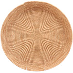 African Basket - All Natural Tuareg Winnowing Tray - 14.5 Inches Across - #72773