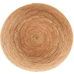 African Basket - All Natural Tuareg Winnowing Tray - 14 Inches Across - #72783