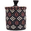 African Basket - Burundi Sisal Coil Weave Canister -  7.5 Inches Tall - #69446