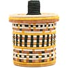 African Basket - Burundi Sisal Coil Weave Canister -  7.75 Inches Tall - #69447