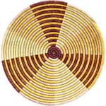 African Basket - Burundi Sisal Coil Weave Bowl - 14 Inches Across - #69569