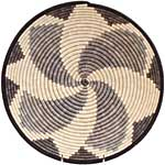 African Basket - Burundi Sisal Coil Weave Bowl - 14.5 Inches Across - #69622