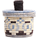 African Basket - Burundi Sisal Coil Weave Canister - 5 Inches Tall - #72106