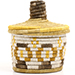 African Basket - Burundi Sisal Coil Weave Canister - 5.5 Inches Tall - #72109