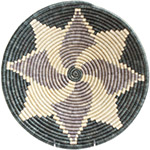 African Basket - Burundi Sisal Coil Weave Bowl - 13.5 Inches Across - #72551