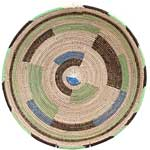 African Basket - Cameroon Coil Weave Bowl - 16 Inches Across - #68280