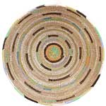 African Basket - Cameroon Coil Weave Bowl - 16 Inches Across - #68283