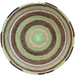 African Basket - Cameroon Coil Weave Bowl - 15.75 Inches Across - #72585