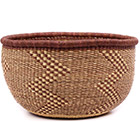 African Basket - Ghana Bolga - No Handle Market - 17 Inches Across - #74521