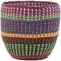 African Basket - Ghana Bolga - Storage Basket - 11.5 Inches Across - #74651