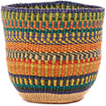 African Basket - Ghana Bolga - Storage Basket - 10.5 Inches Across - #74655