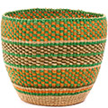African Basket - Ghana Bolga - Storage Basket - 11.5 Inches Across - #74656