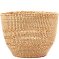 African Basket - Ghana Bolga - Storage Basket - 12.5 Inches Across - #74766 Natural Grass