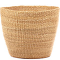 African Basket - Ghana Bolga - Storage Basket - 12.5 Inches Across - #74767 Natural Grass