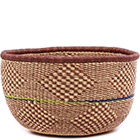African Basket - Ghana Bolga - No Handle Market - 17 Inches Across - #74797