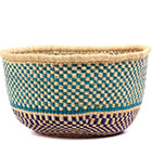African Basket - Ghana Bolga - No Handle Market - 17 Inches Across - #75112