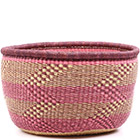 African Basket - Ghana Bolga - No Handle Market - 16.5 Inches Across - #75113