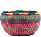 African Basket - Ghana Bolga - No Handle Market - 16.5 Inches Across - #75114