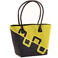 African Market Basket - Madagascar - Malagasy Tote - Approximately 14 Inches Across - #68816