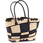 African Market Basket - Madagascar - Malagasy Tote - Approximately 15.5 Inches Across - #68873