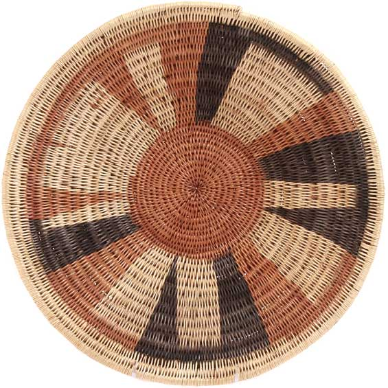 African Basket - Makenge Bush Root Bowl - 13.75 Inches Across - #31948