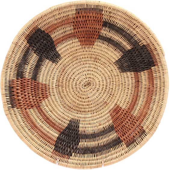 African Basket - Makenge Bush Root Bowl - 13.75 Inches Across - #31950