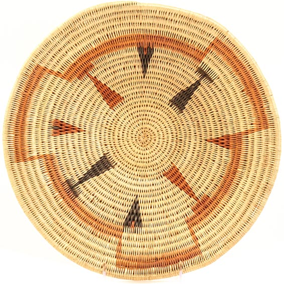 African Basket - Makenge Bush Root Bowl - 13.5 Inches Across - #31956