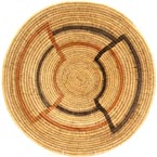 African Basket - Makenge Bush Root Bowl - 18 Inches Across - #37831