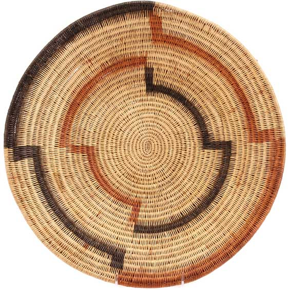 African Basket - Makenge Bush Root Bowl - 16 Inches Across - #66945