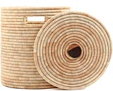African Basket - Malawi - Medium Lidded Hamper - 16 Inches Across - #66814