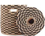 African Basket - Malawi - Small Lidded Hamper - 14 Inches Across - #66823