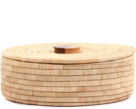 African Basket - Malawi Tabletop Storage - 12 Inches Across - #66825