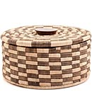 African Basket - Tall Malawi Tabletop Storage - 12.5 Inches Across - #68545