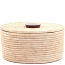 African Basket - Tall Malawi Tabletop Storage - 12.5 Inches Across - #68546