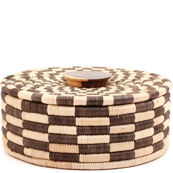 African Basket - Malawi Tabletop Storage - 11 Inches Across - #68547