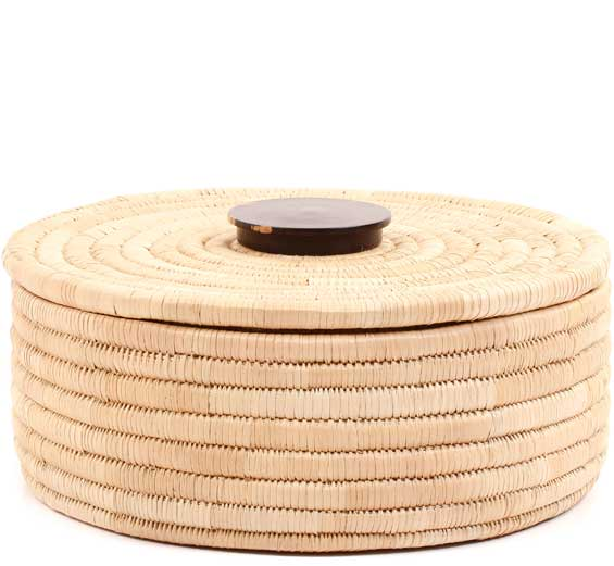 African Basket - Malawi Tabletop Storage - 11 Inches Across - #68548