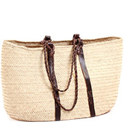 African Market Basket - Tuareg Shopping Tote - Approximately 21 Inches Across - #73609