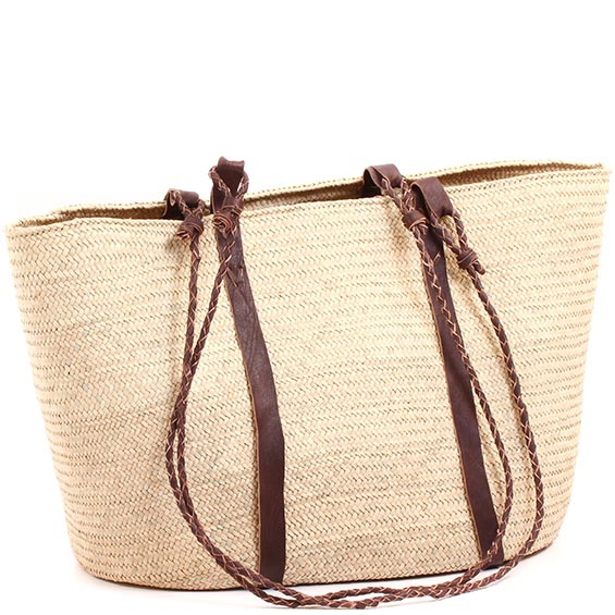 African Market Basket - Tuareg Shopping Tote - Approximately 20.5 Inches Across - #73610