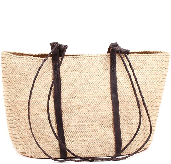 African Market Basket - Tuareg Shopping Tote - Approximately 20 Inches Across - #73611