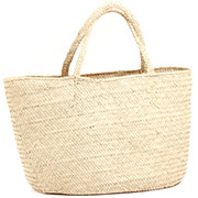 African Market Basket - Tuareg Shopping Tote - Approximately 21 Inches Across - #73614