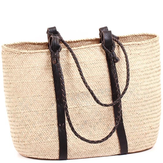 African Market Basket - Tuareg Shopping Tote - Approximately 17.5 Inches Across - #73615