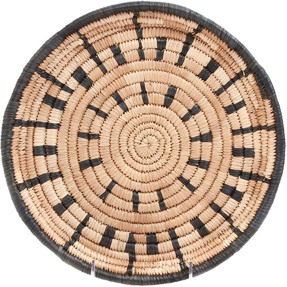 African Basket - Malawi Tray - 10.75 Inches Across - #73646