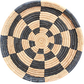 African Basket - Malawi Tray - 17 Inches Across - #73652